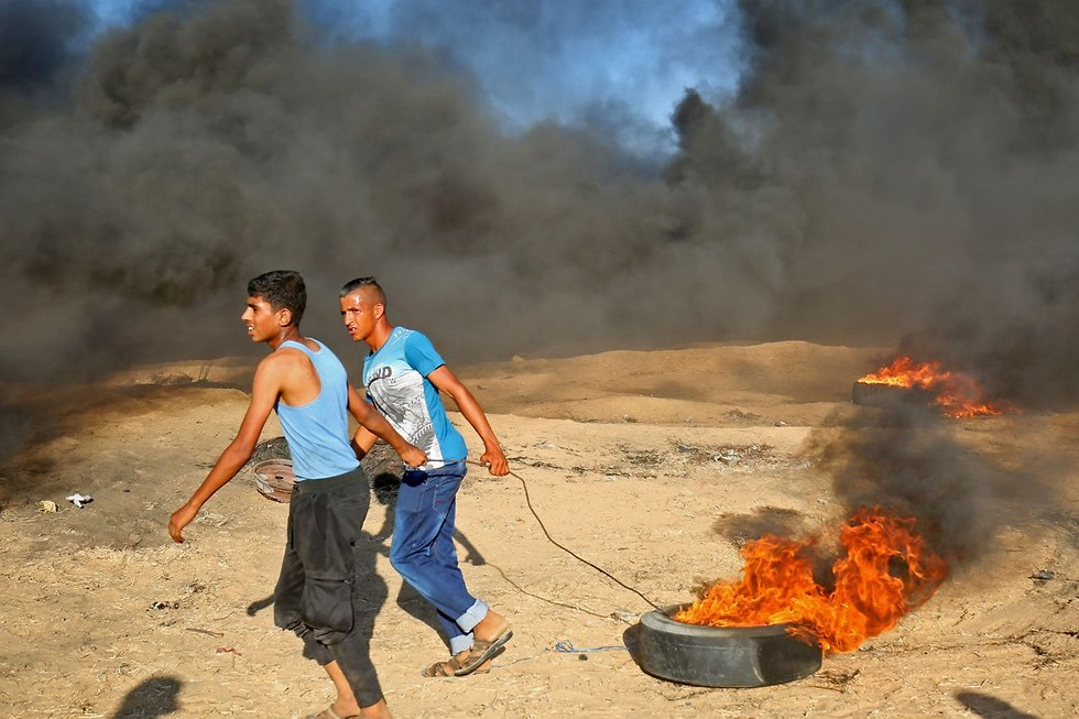 Protesters in Gaza (Photo: AFP)