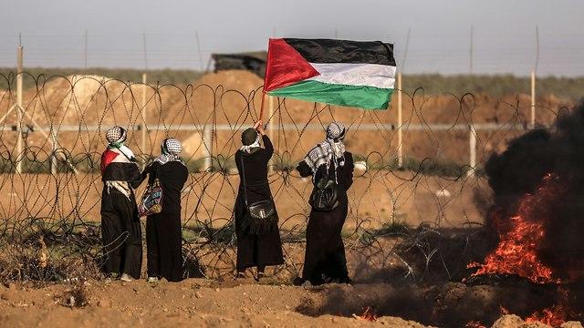 Des femmes de Gaza manifestent à la frontière (Photo: EPA)