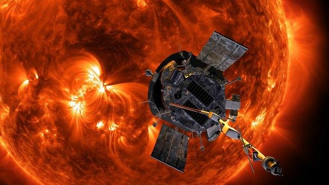 הדמיה של החללית ליד השמש (צילום: נאס
