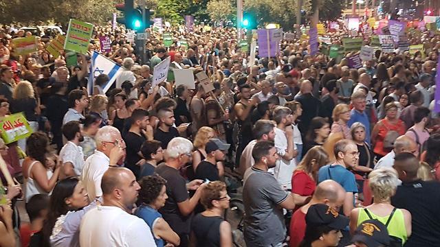 הפגנה בכיכר רבין נגד חוק הלאום ()