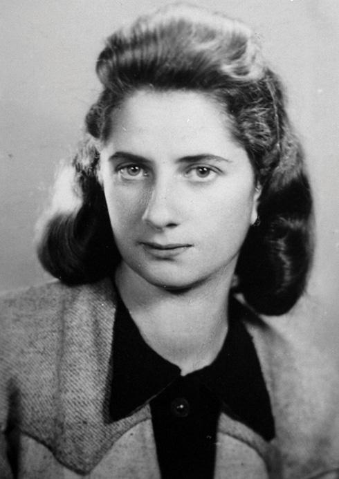 לאה (לודז'ה) המרשטיין־זילברשטיין. הייתה קשרית של השומר הצעיר והארגון היהודי הלוחם במלחמת העולם השנייה (צילום: ארכיון עין השופט)