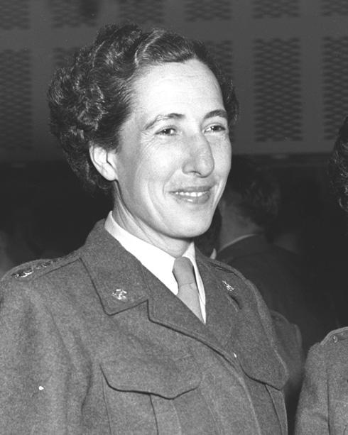 """שושנה ורנר. השתחררה בדרגת אלוף משנה (צילום: כהן פריץ, לע""""מ)"""