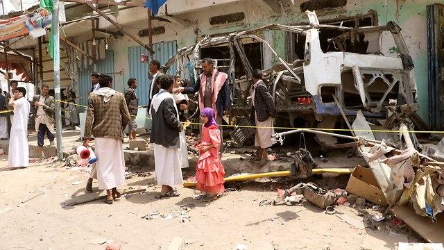 תימן הפצצה אוטובוס ילדים סעודיה (צילום: רויטרס)