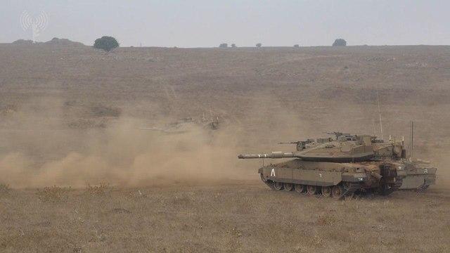 תרגיל אוגדה 36 , צוות קרב חטיבתי, אימון חיזבאללה לבנון (צילום: דובר צה