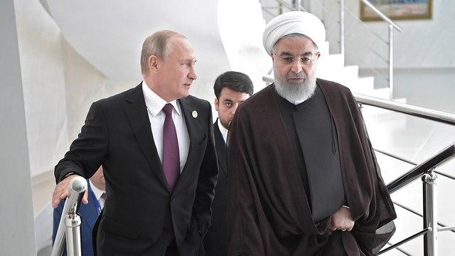 הסכם היסטורי הים הכספי נשיאי איראן רוסיה אזרבייג'ן טורקמניסטן קזחסטן (צילום: EPA)