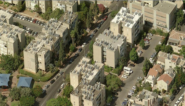 פינוי בינוי גבעת שמואל לפני (צילום: החברה להתחדשות עירונית)