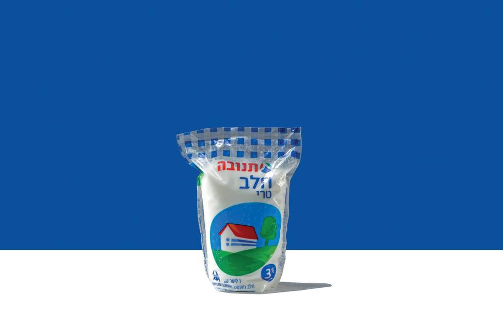 ישראלים רבים ממשיכים לשמור אמונים לשקית החלב, אך לא בגלל האריזה המרגיזה שלה. הסטודנטית הפכה אותה למכל מפלסטיק מתכלה, עם בסיס שטוח ויציב. אין נזילות ואין בריחה של השקית מהידיים (באדיבות טל שוטנפלס)