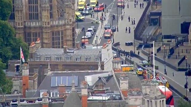 דריסה ליד בניין הפרלמנט בלונדון (צילום: רויטרס)