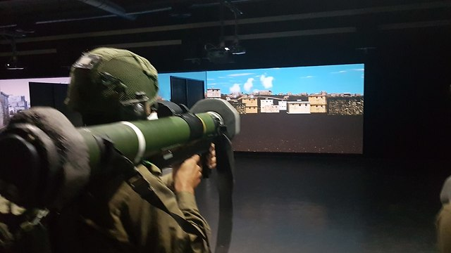 New simulation systems in the Ground Force Command  (Photo: Yoav Zitun)
