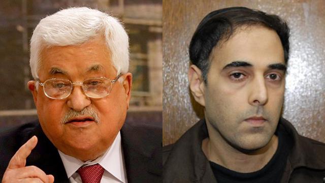 President Abbas and Yigal Amir (Photo: Yaron Brener, Reuters)