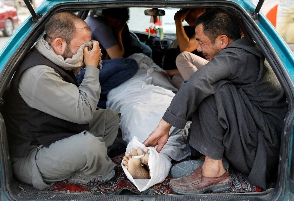 פיגוע מחבל מתאבד דאעש קאבול אפגניסטן תלמידים (צילום: רויטרס)