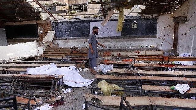 פיגוע מחבל מתאבד דאעש קאבול אפגניסטן תלמידים (צילום: EPA)