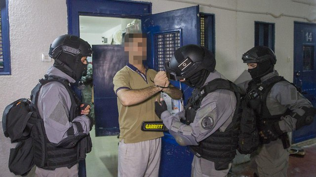 Security prisoners in Gilboa Prison (Photo: Ido Erez)