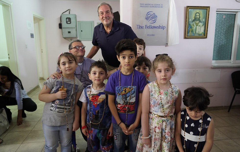 Rabbi Eckstein visiting the Medical clinic in Amman  (Photo: IFCJ)