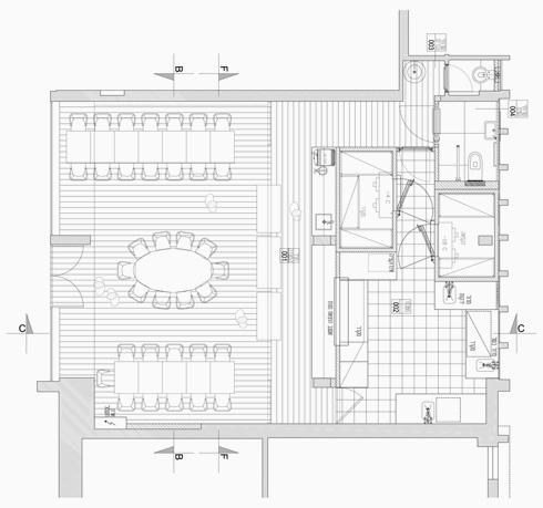 תוכנית המקום, שחולק לשני חלקים עיקריים, אירוח ותפעולי (תוכנית: סטודיו אמית)