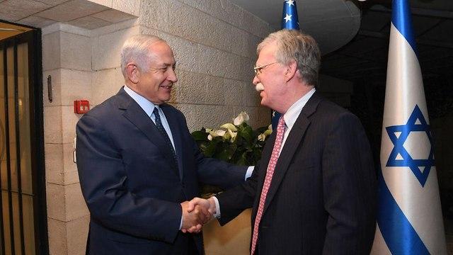 PM Benjamin Netanyahu and US National Security Advisor John Bolton (Photo: Haim Zach/GPO)