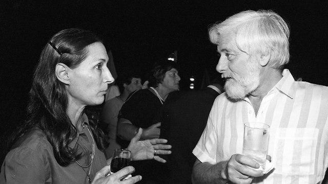 Yael Dayan with Uri Avnery