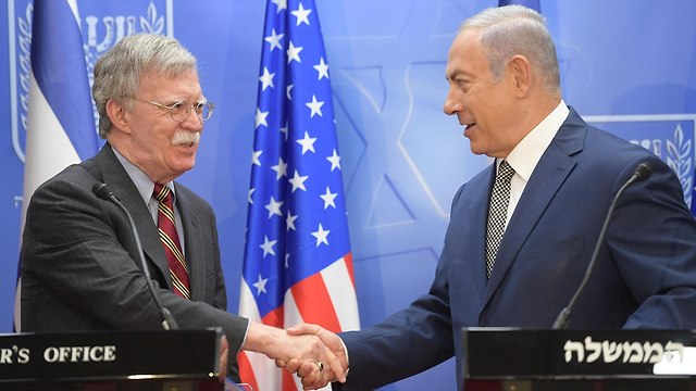PM Netanyahu and John Bolton (Photo: Amos Ben Gershom/GPO)