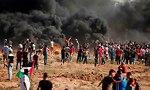 הפגנה בגבול עזה (צילום: AFP)