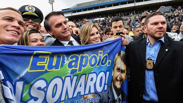 ברזיל מועמד ימין קיצוני בחירות נשיאות ז'איר בולוסנרו (צילום: AFP)
