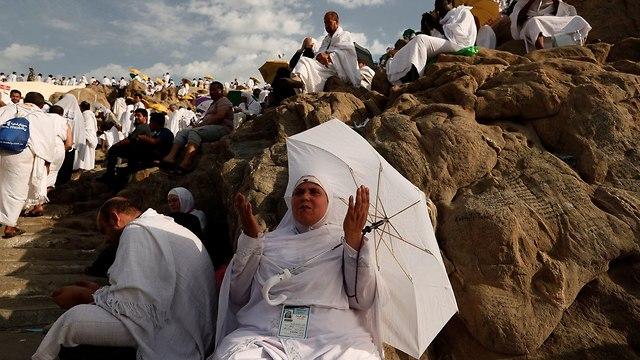 עולי רגל מוסלמים חאג' הר ערפאת הר הרחמים סעודיה (צילום:  רויטרס)