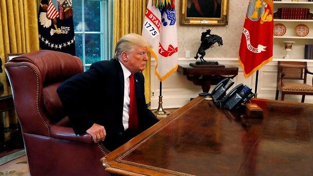 דונלד טראמפ ב ראיון ל רויטרס הבית הלבן וושינגטון ארה