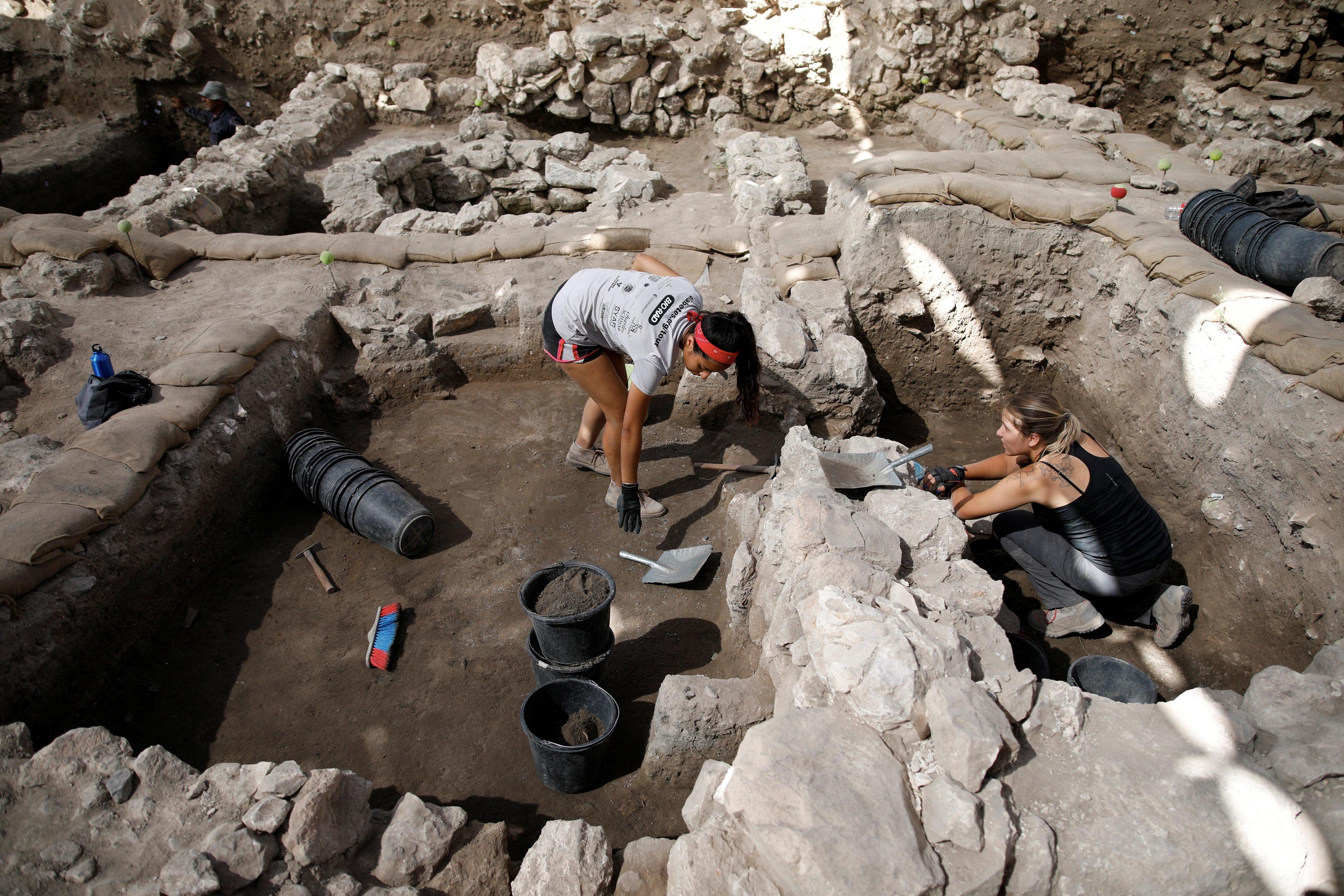 Meggido excavation (Photo: Reuters)