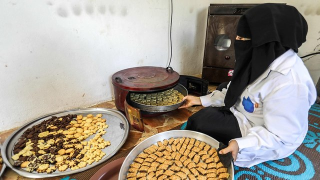 חג הקורבן איסלאם סוריה אידליב (צילום: AFP)