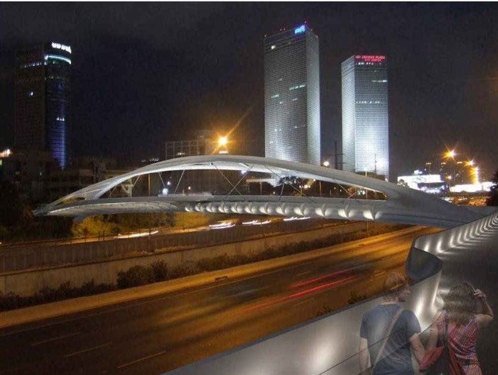 גשר ביצרון תל אביב (הדמיה: משרד חן אדריכלים)