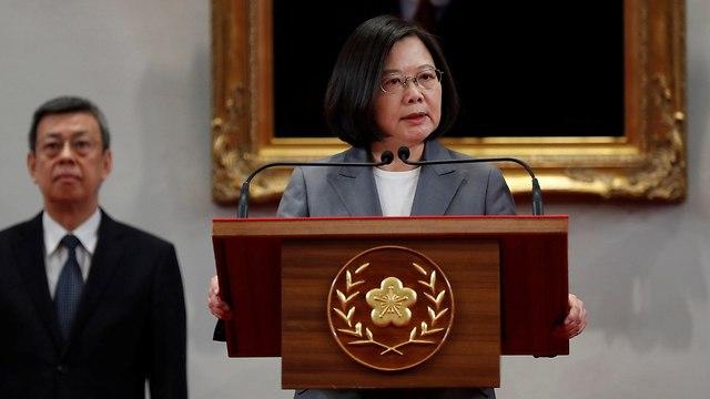 נשיאת טייוואן צאי אינג וון עימות עם סין (צילום: רויטרס)