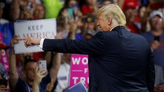 טראמפ בעצרת בווירג'יניה המערבית (צילום: רויטרס)