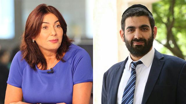 Miri Regev (L) and Shas MK Michael Malchieli  (Photo: Avi Moalem)