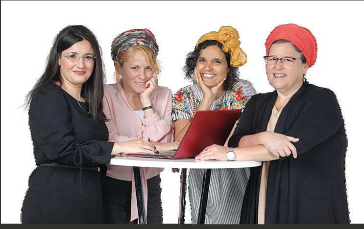 """מימין: הרבנית עברון, פלסר, תעסן מיכאלי ועו""""ד פרץ־דרעי. """"אנחנו כבר לא משוגעות בודדות, אנחנו ביחד"""""""