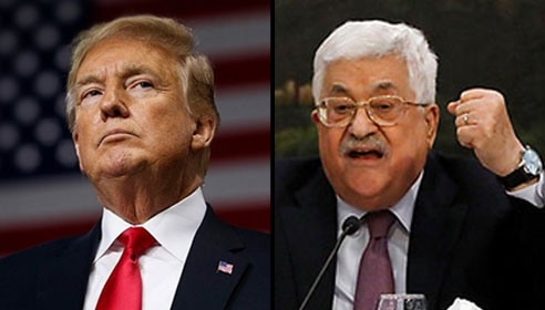 President Trump and Mahmoud Abbas (Photo: AP, Reuters)