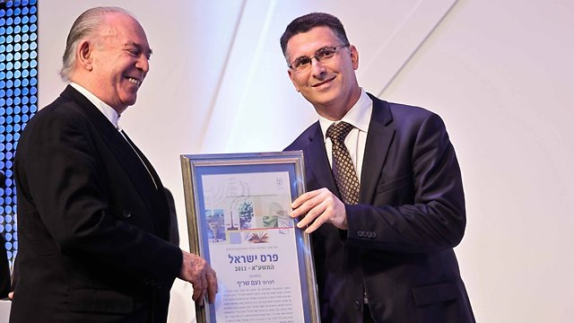 Noam Sheriff receives Israel Prize (Photo: Noam Moskovich)
