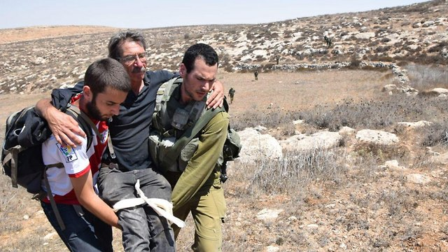 Left-wing activists wounded in Mitzpe Yair
