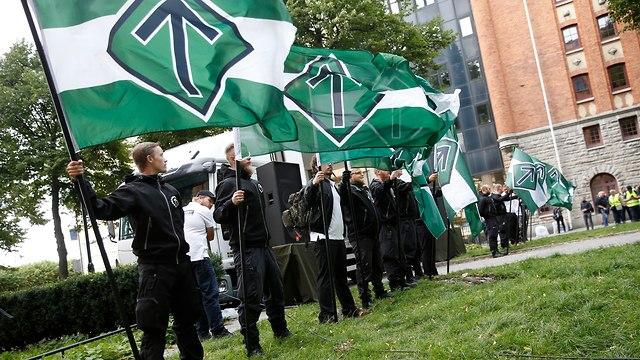 Stockholm Neo-Nazi rally  (Photo: EPA)