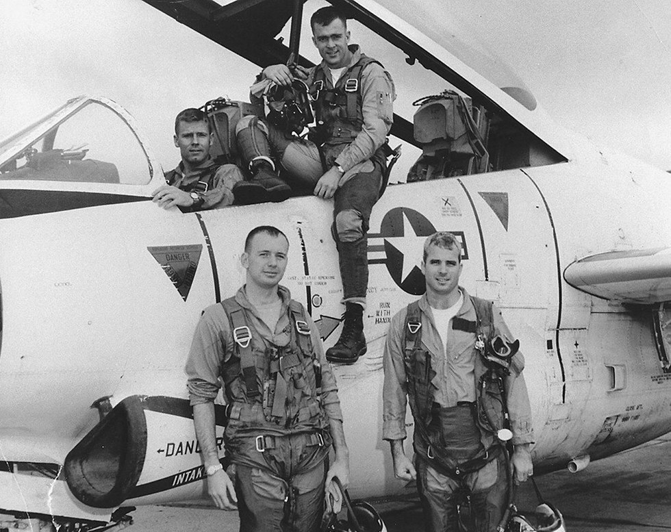 McCain (bottom right) in 1965 (Photo: Reuters)