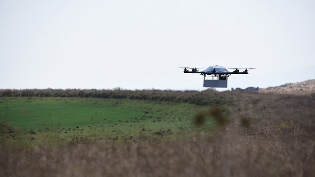 Drone providing medical supplies  (Photo: IDF Spokesperson's Unit )