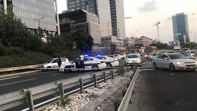 נתיבי איילון הפגנה נכים בתל אביב ()