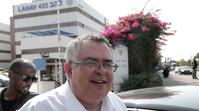 David Bitan outside the Lahav 443 headquarters (Photo: Tzvika Tishler)