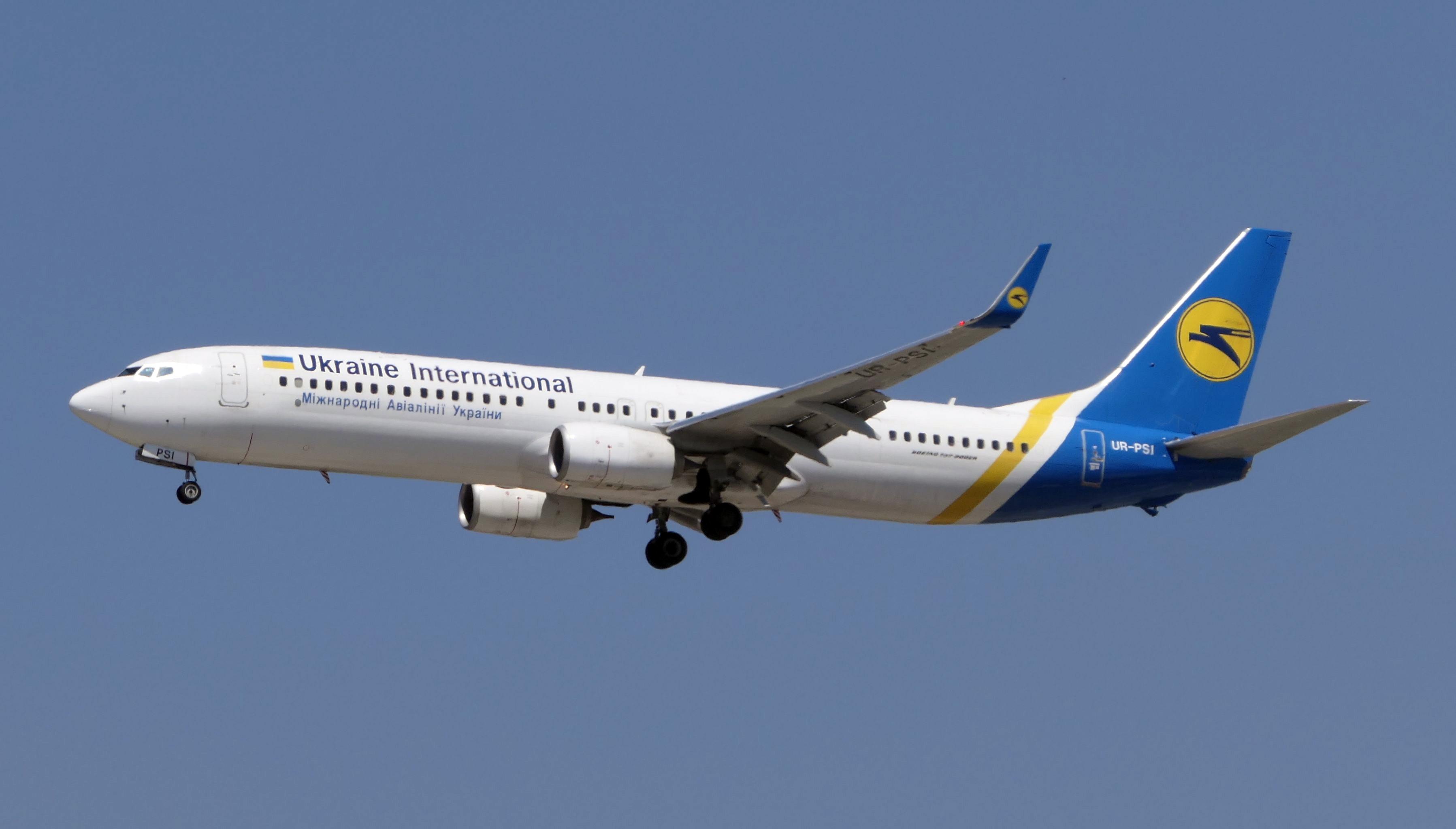 מטוס החברה יוקריין איירליינס (צילום: דני שדה)