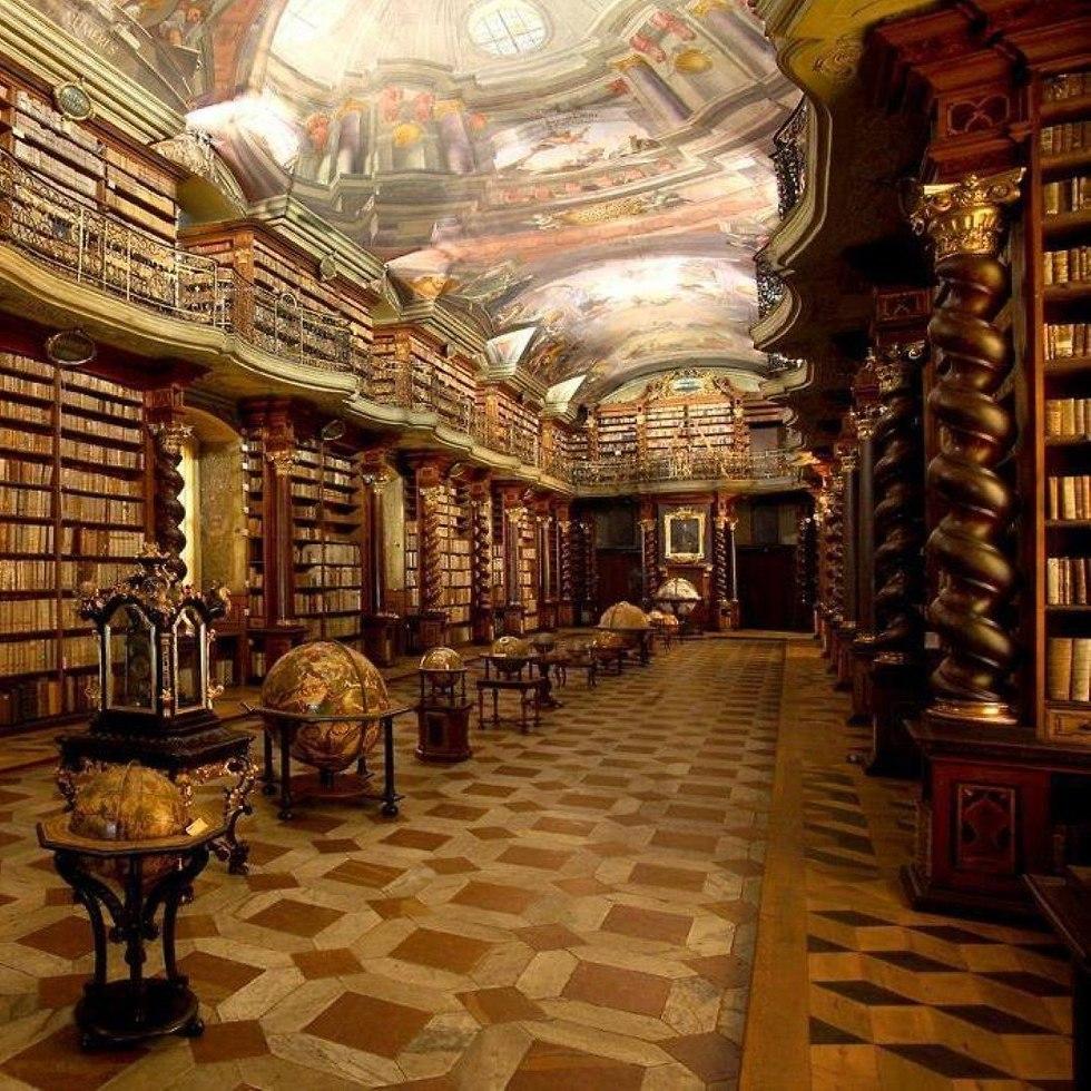 klemantinum library (צילום: מתוך עמוד הפייסבוק של הספריה)