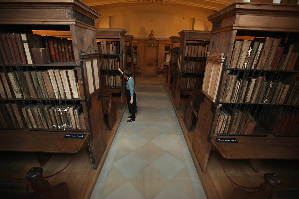 hereford cathedral library (צילום: Christopher Furlong/GettyImagesIL)