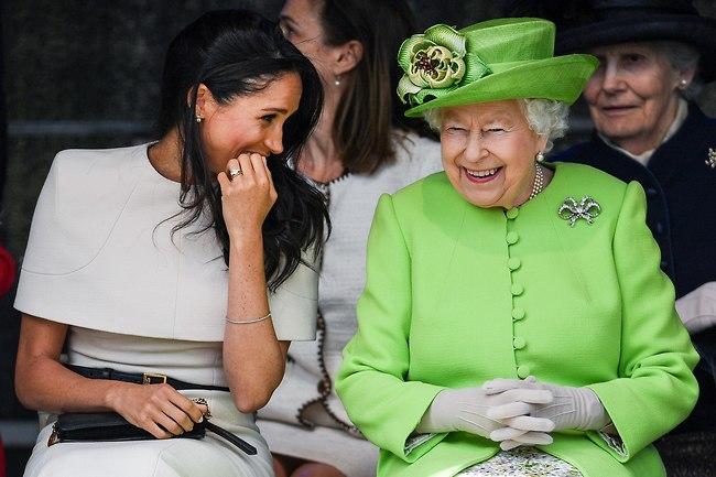 הכי בסטיז! המלכה אליזבת' ומייגן מרקל (צילום: Gettyimages)