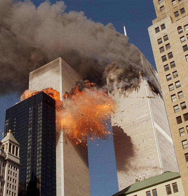 אסון התאומים, 11.9.2001. תשומת לב מחודשת לשיר של אודן (צילום: CHAO SOI CHEONG/AP)