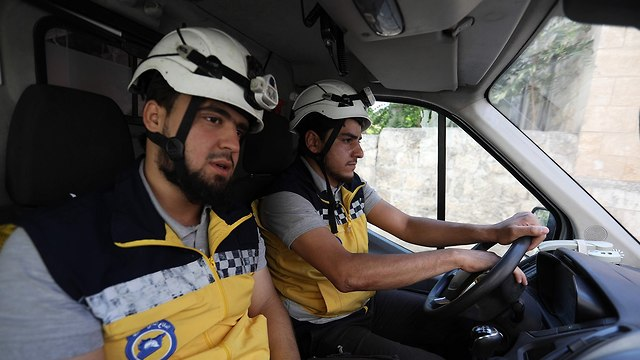 White Helmets patrol in Syria (Photo: AFP)