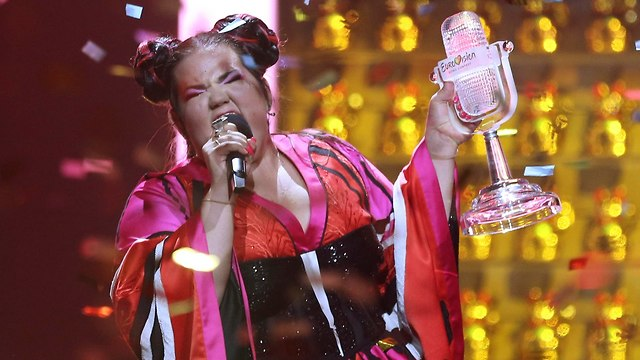 Netta holding the Eurovision trophy after her 2018 win (Photo: AP)