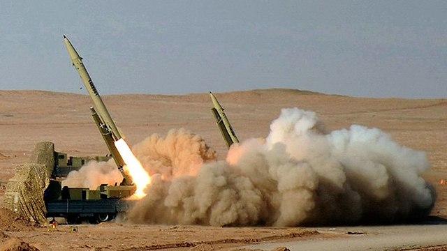 Fateh-110 ballistic missile test