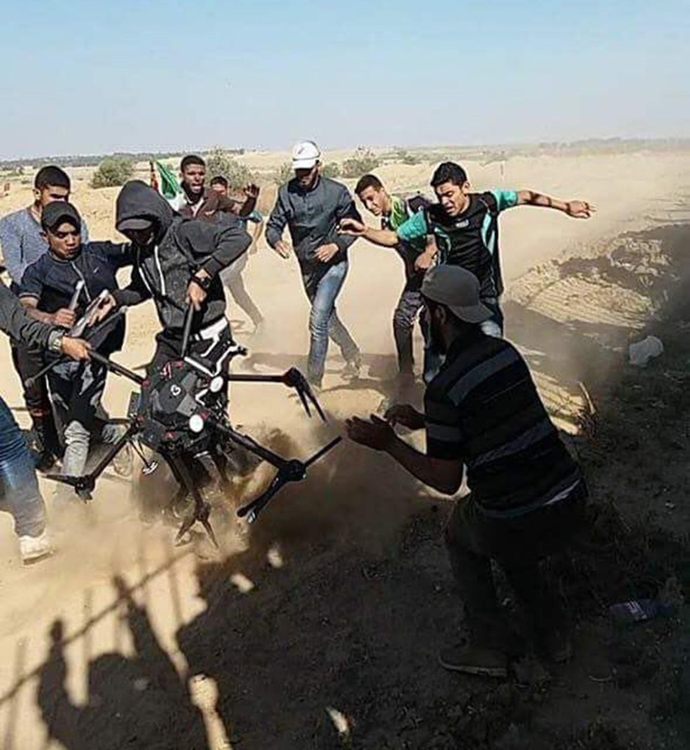 Palestinians claim they shot down an IDF drone